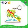 2017 형식에 의하여 주문을 받아서 만들어지는 3D 승진 선물 PVC Keychain