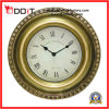 Decoration를 위한 특대 Gold Bronze Plastic Antiqued Wall Clock