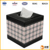 Caja del tejido del cuero del cuadrado del diseño de la manera (SP-LTB011)