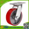 Rote PU-Rad-Fußrolle mit Qualität