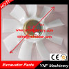 Ventilador hidráulico pá do ventilador personalizada Jcb220 do radiador do ventilador de motor da máquina escavadora
