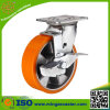 Side Brake PU Trolley Castor Wheel
