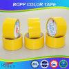 Cinta adhesiva de acrílico amarilla del embalaje de Hongsu BOPP