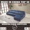 L moderne bleu en cuir sectionnel de sofa de forme (Lz8002)