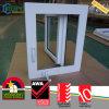 Finestra di vetro lustrata doppio di plastica americano della manovella di stile UPVC