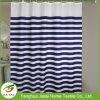 Rideau de douche à rayures bleu et blanc sur mesure