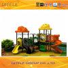 de 114mm Gegalvaniseerde Post Kleurrijke Apparatuur van de Speelplaats van de Kinderen van het Dak van de Hond Openlucht