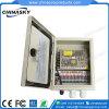 12VDC 10AMP 9CH는 방수 처리한다 CCTV 전력 공급 상자 (12VDC10A9PW)를