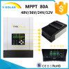 régulateur Sch-80A de panneau solaire de 12V/24V/36V/48V MPPT 80A 60~150VDC IP54