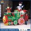 Длинний раздувной оживленный поезд Санта, большой раздувной продукт рождества