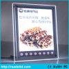 DEL mince annonçant le panneau d'affichage acrylique en cristal de cadre léger