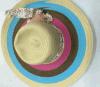 Шлем пляжа женщин Brim шлема сторновки тесемки способа большой