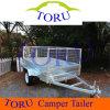 Toru 최신 담궈진 직류 전기를 통한 8X5 감금소 트레일러 또는 상자 트레일러 또는 차 트레일러