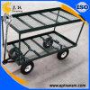 Chariot en acier de chariot de jardin de 4 roues