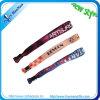 Kundenspezifisches Wärmeübertragungfestival gesponnene Wristbands