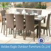 8組のシートのPEの藤の屋外のプラスチック椅子の庭セット(FP0121)
