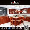 2015 [Welbom] conceptions de luxe faites sur commande de cuisine de bois de rose