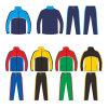 Het Jasje en de Broek van het Kostuum van de Opwarming van de Bovenkledij van de Voetbal van de douane voor Mens