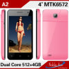 Mtk6572 удваивают сотовый телефон Xld A2 карточки SIM двойной резервный