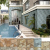 磁器ブラウンNatural Granite Stone Mosaic Exterior Wall Tile (200X400mm)