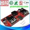 PCBA Asamblea de USB con los componentes en