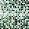 do derretimento quente verde da mistura de 15X15mm telha de vidro do mosaico (BGC025)