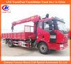 Op zwaar werk berekende LHD vrachtwagen-Mounted Crane in 8tons Mobile Crane Truck