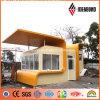 Sitio 4m m PVDF amarillo de la seguridad fuera del panel de revestimiento de aluminio