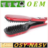 2016 profissional Steam Hair Straightener Comb Brush com Ceramic Heating