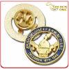 A alta qualidade morre o Pin chapeado ouro gravado carimbado do Lapel do metal