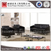 Sofà di cuoio nero di svago dell'ospite del salone (NS-S285)