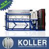 Máquina refrigerando direta industrial do bloco de gelo com fatura de gelo rápida para 3 toneladas por o dia