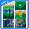 膨脹可能なびん、緑の膨脹可能な気球、巨大な気球