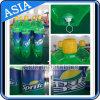 Bottiglia gonfiabile, aerostato gonfiabile verde, aerostato enorme