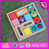 2015 Kids colorido Wooden Game Block Puzzle, DIY Children Wooden Block Puzzle Toy, Interesting Block Puzzle em Wooden Box W13A069