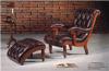 Recliner en cuir classique de fauteuil de Chesterfield