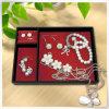 Caja de encargo de cuero popular del collar de la perla de la cartulina de la PU con terciopelo