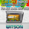 Rk3188 Quad Core HD 1024X600 Screen 16GB Flash 1080P WiFi 3G Front (W2-M132)를 가진 New Honda Civic 2012년을%s Witson S160 Car DVD GPS Player (For Left Hand Driver)