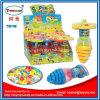 Grelles und springendes Superspinner-Oberseite-Spielzeug mit Süßigkeit