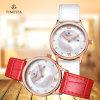 Bedrijfs Horloge voor Dames met Echte Band 71078 van het Leer