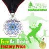 販売優雅なメダルフレームの水晶マドリード一義的な賞メダルのためのベストセラーの工場