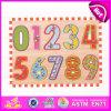2015大きい第形の木のジグソーパズルのおもちゃ、子供番号ジグソーパズル、卸売の教育ジグソーパズルのゲームW14b053