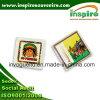 Imán de imán cuadrado de acrílico con inserto de papel de impresión