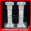 Coluna de coluna romana decorativa com granito de pedra em mármore de pedra