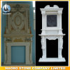 Custom Design Fireplace Ornament Stone Fireplace Surround Hand Carved