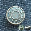 Кнопки металла фирменного наименования плакировкой изготовленный на заказ для джинсовой ткани