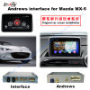 Auto Video Androïde GPS Van verschillende media 1080P van de Interface Navigator voor 14-16 Mazda mx-5 Steun Bt/WiFi