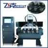 Ranurador del CNC de la fresadora del CNC de 4 ejes de rotación con el dispositivo rotatorio