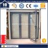 Portello Bi-Fold di alluminio della rottura termica europea di disegno