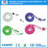 Новый приходя кабель USB цветастого зарядного кабеля высокого качества плоский